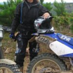 Kay on her dirt bike in Clayton, Oklahoma