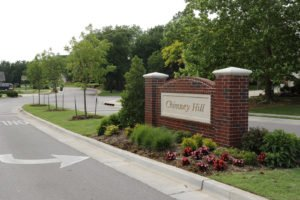 Chimney Hill Neighborhood entrance Sign