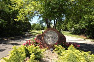 Faircloud neighborhood entrance sign