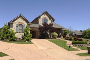 Typical home in Steeplechase neighborhood in Edmond, Oklahoma