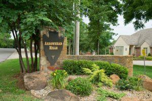 Arrowhead Hills neighborhood entrance sign