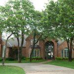 Plenty of trees surround homes in Tall Oaks neighborhood of Edmond, Oklahoma
