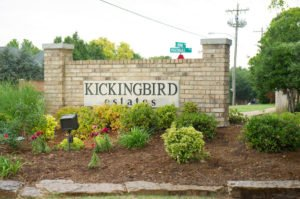 Kickingbird Estates neighborhood sign