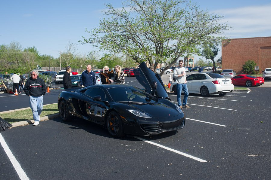 You don't see a McLaren every day.