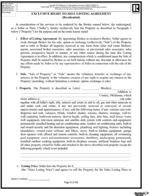 The Oklahoma Real Estate Commission (OREC) Residential Real Estate agreement is used for listing your property.