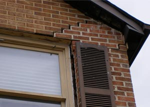 Cracks such as these can be caused by our strong Oklahoma winds rather than a moving or cracked foundation.