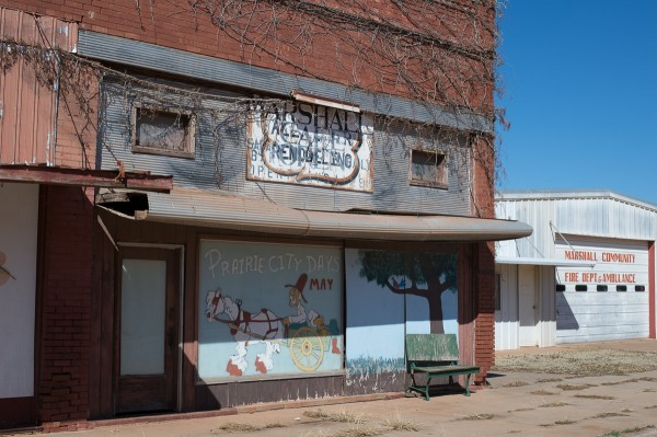 Not many businesses exist in downtown Marshall.