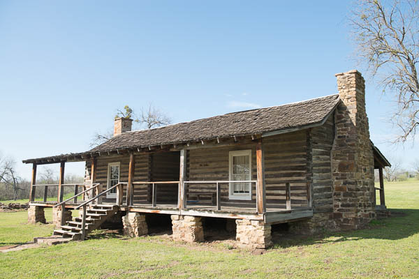 Several log structures still remain at Fort Gibson.
