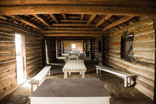 You can take your kids inside an old bunkhouse and show them how soldiers lived in the 1800's.