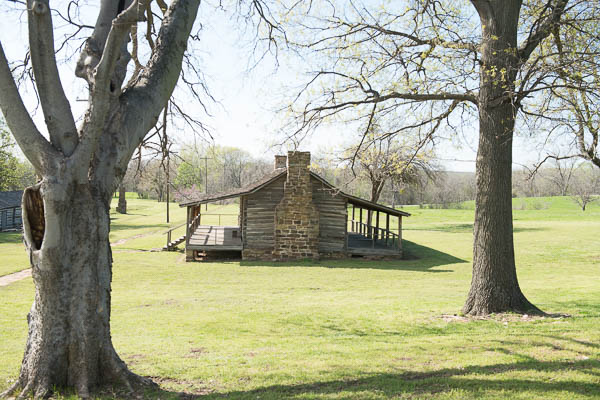 Several bunkhouses dot the Fort Gibson landscape.