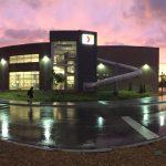 James Pratt's photo of the Mitch Park YMCA at sunset.