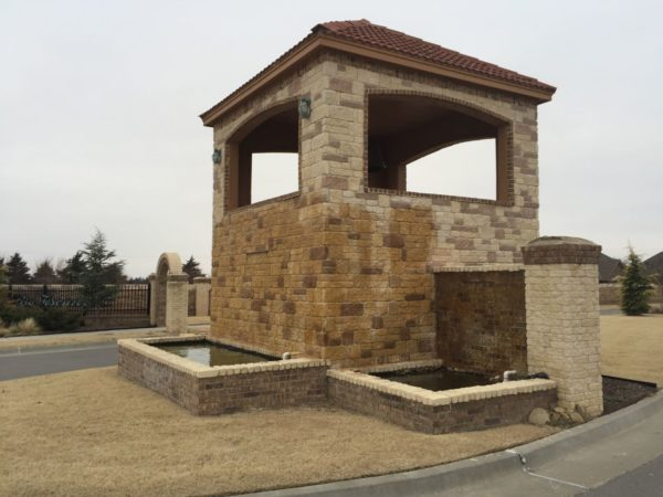 A gated entrance opens to many wonderful homes for sale in Rio Toscano neighborhood in south OKC and south Moore.