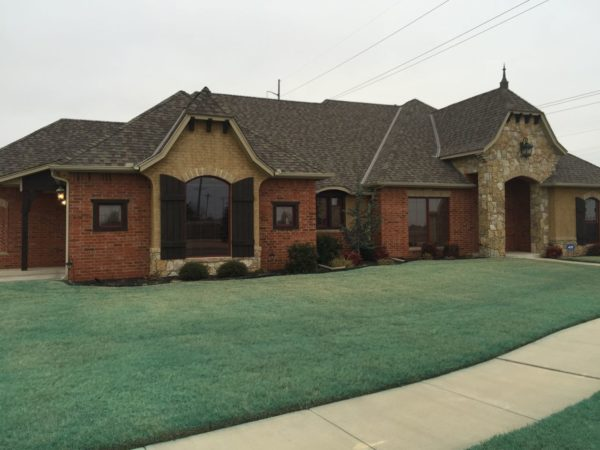 This home at the entry to the Rio Toscano neighborhood in south Oklahoma City is a typical example of homes for sale in the neighborhood.
