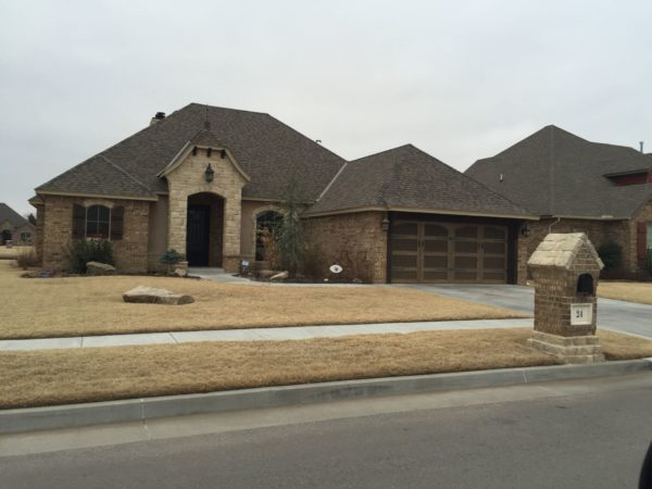 This is another typical home in the Rio Toscano neighborhood in Moore, Oklahoma.