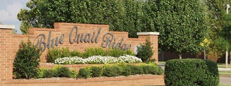 Blue Quail Ridge neighborhood entrance sign