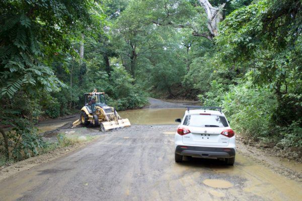We made several low water crossings in the back roads of Costa Rica.