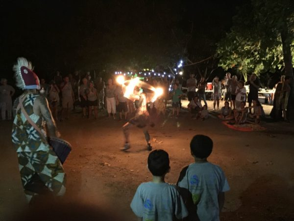 We stopped in at a festival along the beach one night and watched some fire dancing.