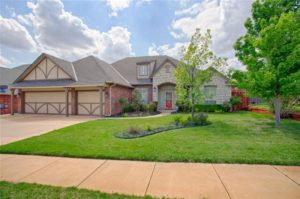 This is a typical home for sale in the Belmont Ridge neighborhood in Edmond, Oklahoma.