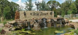 Front entrance to the Bella Terra neighborhood in northeast Edmond, Oklahoma