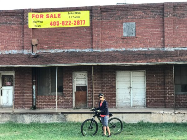 While riding our bicycles along the back roads near downtown Edmond we ran across this building that we didn't even realize was there, just north of 2nd Street and west of Broadway.