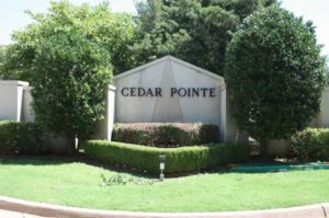 Cedar Pointe is a gated community located on Santa Fe just south of Covell.