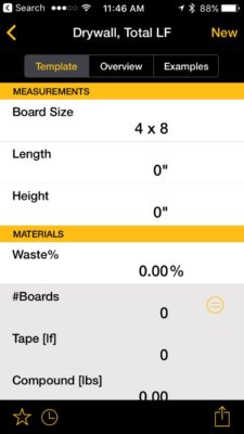 Planning to install some drywall? Use this calculator figure out how much tape and putty you will need.