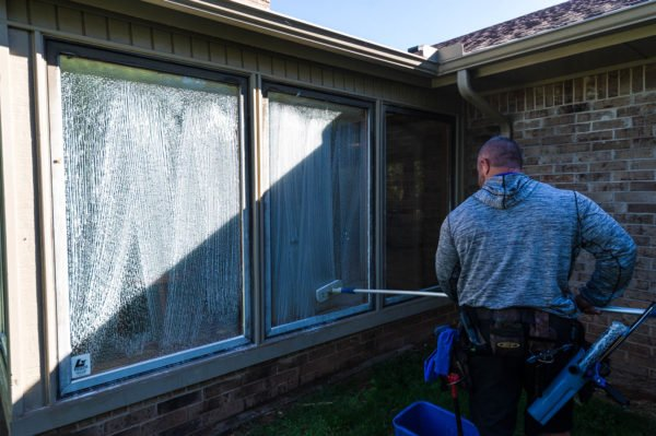 The easiest way to clean your windows is to hire a professional window cleaning company such as Jarvis Enterprises.